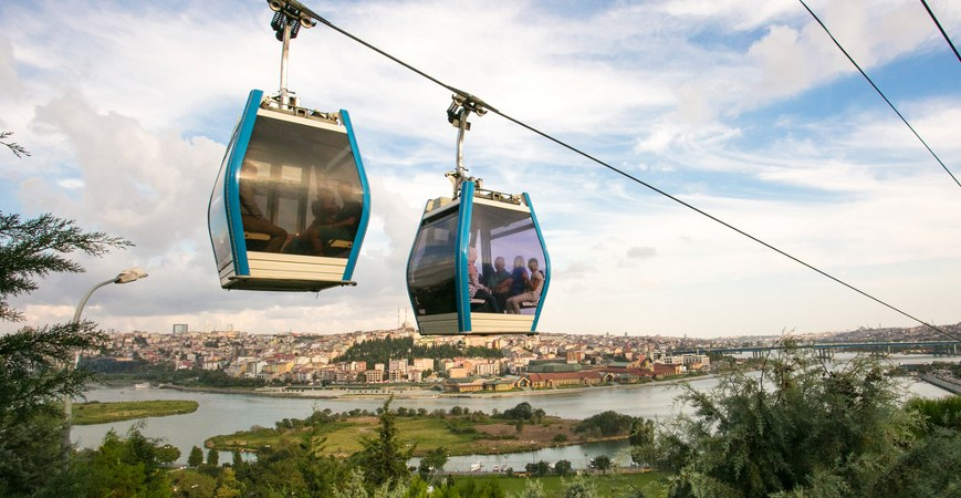 Cable Car on Pierre Loti Hill Istanbul