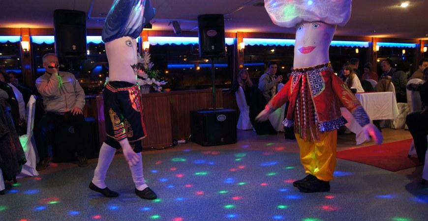 Turkish night show on bosphorus