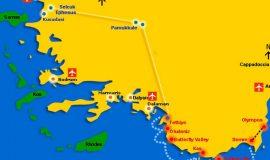 Semi Bus Travel From Fethiye To Selcuk Or Kusadasi