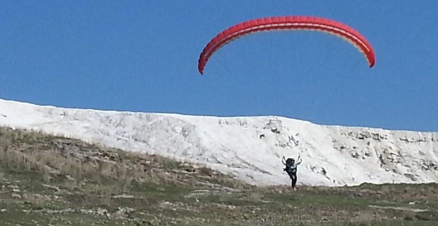 Paragliding In Pamukkale