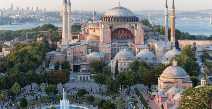 Santa Sophia or Hagia Sophia in Istanbul