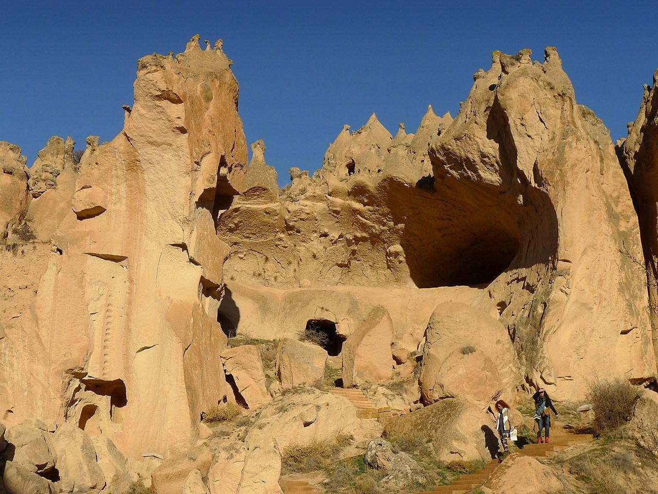 Cavusin Village and Zelve in Cappadocia Turkey