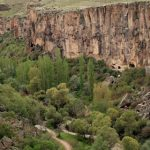 Derinkuyu and Ihlara Valley (Peri strema Valley) in Cappadocia
